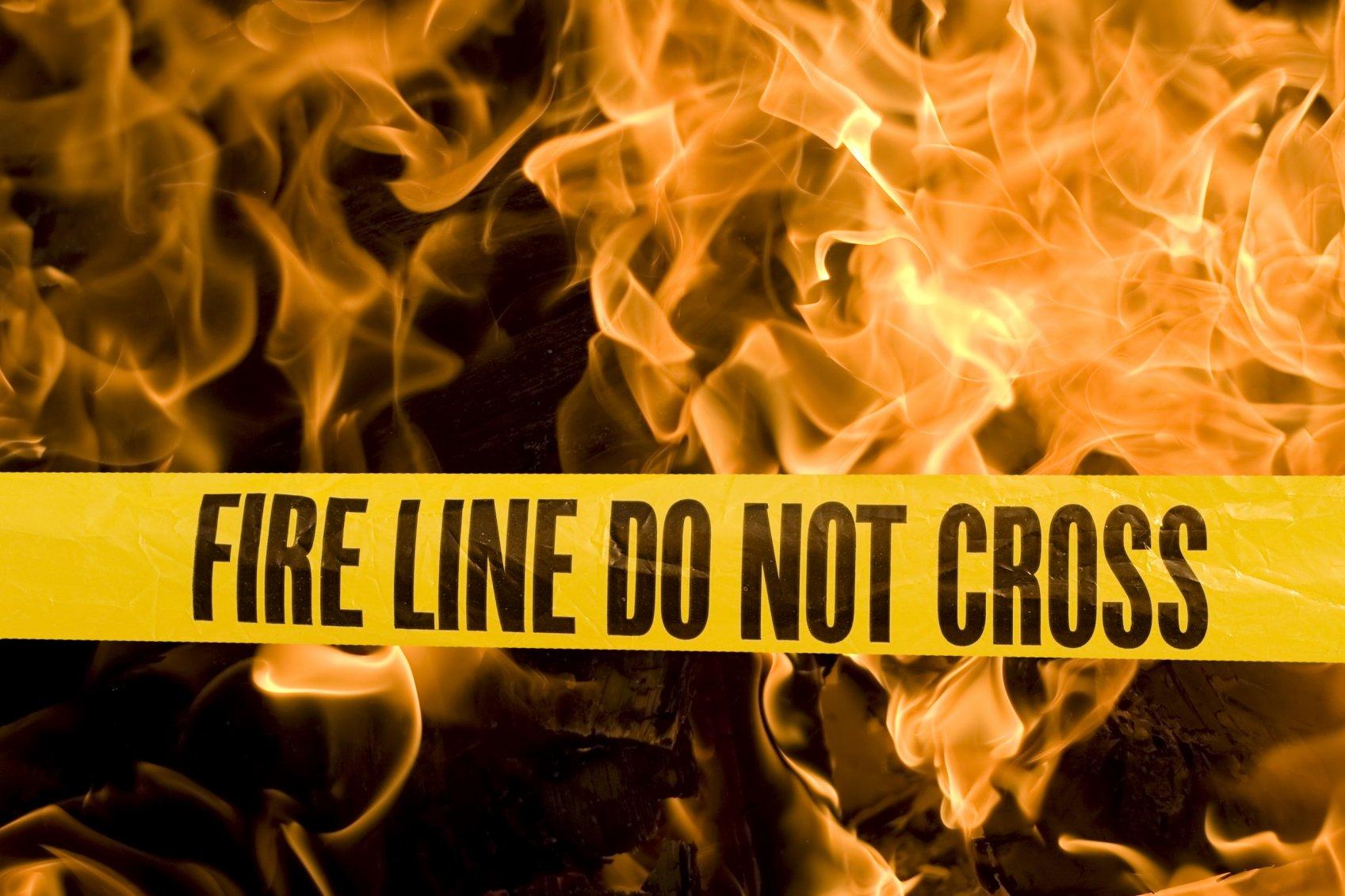 safe responders fire caution sign